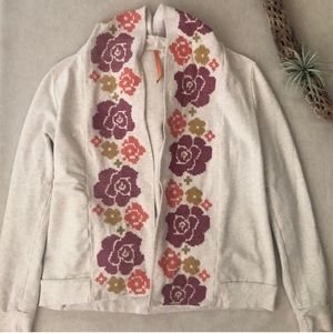 Anthro Saturday Sunday Floral Hoodie sz M